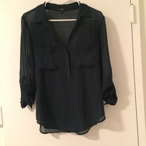 Tops - Forrest Green long sleeve blouse
